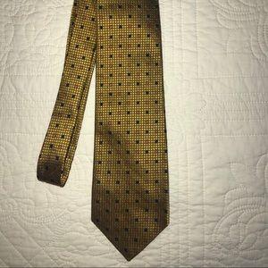 ERMENEGILDO ZEGNA Gold Floral luxury Silk Necktie
